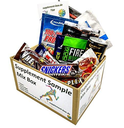 Supplement Sample Mix Box - 6 Shakes + 5 Fitnessriegel + 1 Drink diverser Markenhersteller