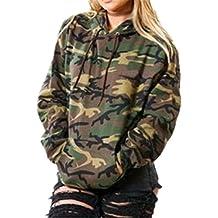 Kerlana Damen Tops Drucken Sweatshirt Camouflage Militär Kapuzenpullover  Bluse Lange Hülse Mit Kapuze Pullover Bluse Streetwear 6610d649c2