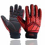 Guanti anti vibrazione, imbottitura SBR, TPR Protector impatto guanti, uomini meccanico guanti da...