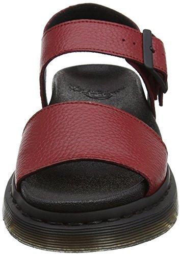 Dr. Martens 22095608, Sandali con Piattaforma Donna Rosso (Dark Red Pebble Lamper)