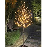 Lightshare 6Ft 208L LED Blossom Tree+Free Gift:20L LED C7 Decoration Light