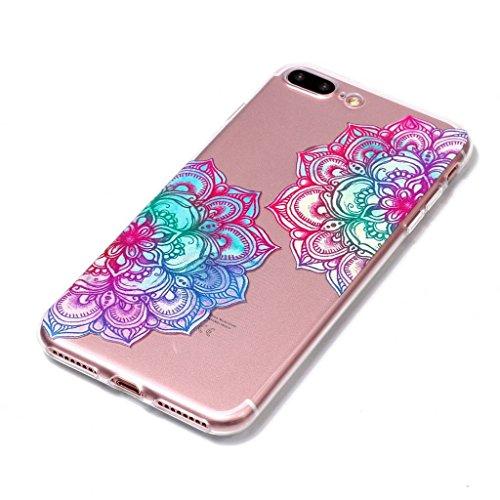 """Hülle für Apple iPhone 7 Plus , IJIA Transparente Donuts TPU Weich Silikon Stoßkasten Cover Handyhülle Schutzhülle Handytasche Schale Case Tasche für Apple iPhone 7 Plus (5.5"""") XY22"""