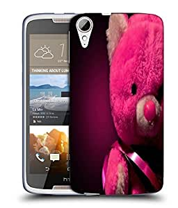 Snoogg Pink Teddy Bear Designer Protective Back Case Cover For HTC 828