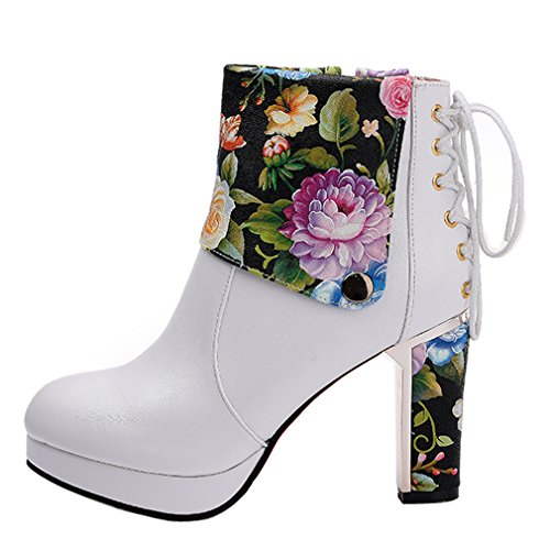 Stiefel Wei Cool Frauen Heels High Fashion Style ENMAYER Girl FvB6Acwq