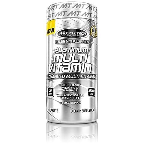 MuscleTech Platinum Multi-Vitamins Capsules - Pack of