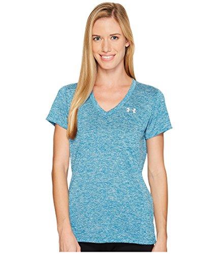 Under Armour Damen Tech Ssv-Twist Kurzarmshirt, Bayou Blue, M