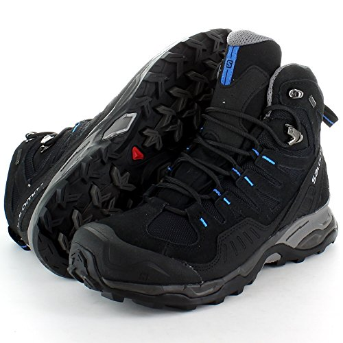 Salomon Mens Conquest GTX GoreTex Waterproof Walking Boots Black Black