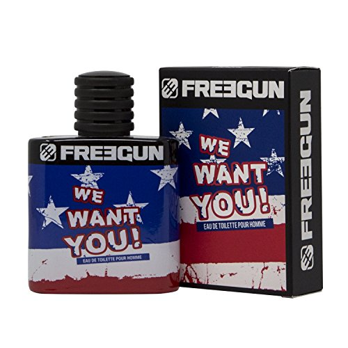 Duftwasser Freegun We Want You für junge und verwegen Männer, 50 ml - ACHTUNG: Massenverführungswaffe