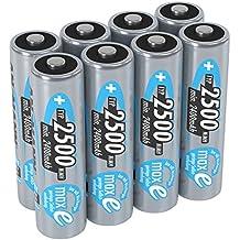 ANSMANN wiederaufladbare Akku Batterien Mignon AA 1 2V/2500mAh NiMH - Akkubatterie mit maxE Technologie für Geräte mit hohem Stromverbrauch/Ideal für elektronisches Spielzeug 8 Stück