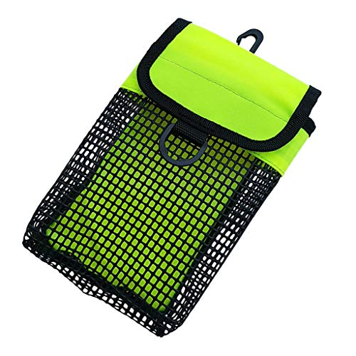Sharplace Hüfttasche Handytasche Nylon Netztasche Gürteltasche Mini Reel Spule Tasche - Gelb