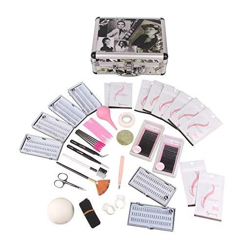 Beauty7 Faux Cils Individuels Natural Magnétique Kits Case Avec Outils Extension de cils en Soie Ciseaux Pince Bande Brosse Faux cils