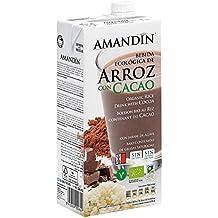 Amandin Bebida de Arroz con Cacao - Paquete de 6 x 1000 ml - Total: