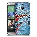 Head Case Designs Offizielle The Macneil Studio Fliegen Weihnachtsmann Ruckseite Hülle für HTC One M8 / M8 Dual SIM