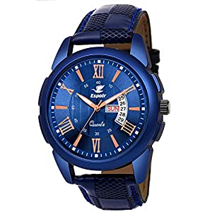 Espoir Analogue Blue Black and Brown Color Dial Day and Date Boy's and Men's Watch