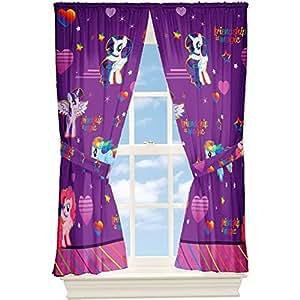 My Little Pony fenêtre Drapes Rideaux Panneaux, Violet et rose