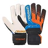 Reusch Prisma SD Easy Fit Junior guanti da portiere hartplatz bambini Nero/Arancione, electric blue / shocking orange, 6