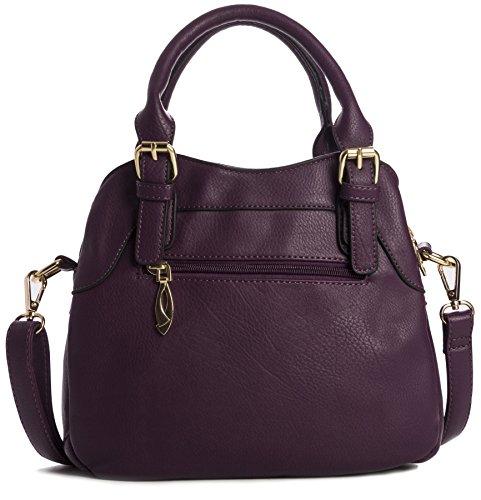 Big Handbag Shop - Borsa a tracolla donna (nero)