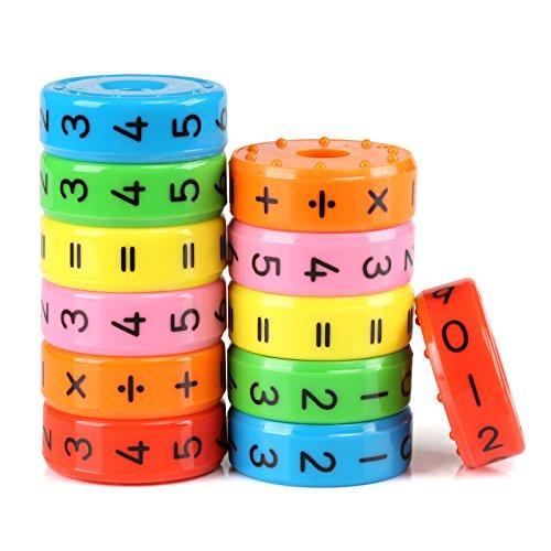KESOTO 2 Stück Mathe Montessori Rechnen Spielzeug Mathematik Lernspielzeug für Kinder