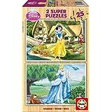 Puzzles Educa - Cenicienta y Blancanieves, 2 puzzles x 25 piezas (15591)