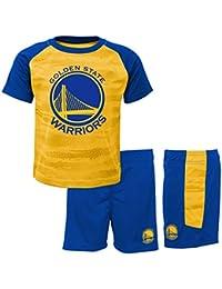 NBA Golden State Warriors-Shorts and T-Shirt Set, Conjunto Ropa Deportiva para