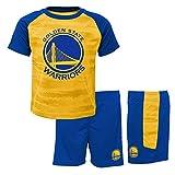 NBA Jungen Sportswear-Set Golden State Warriors-Shorts and T-Shirt, Blau (Blue/Yellow Bly), 5-6 Jahre