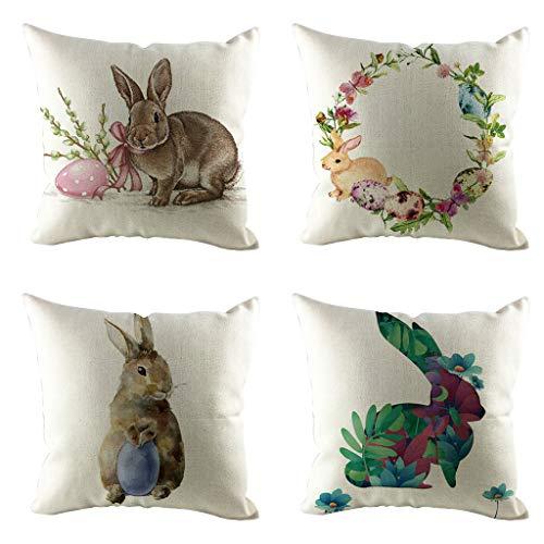 Federe cuscino di pasqua honestyi, divano federe cuscino caso easter copricuscini divano home decor regalo decorazione divano auto essenziale 45x45 cm (n, taglia unica)