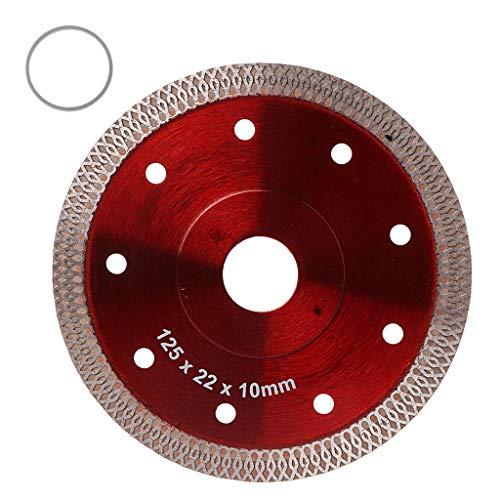 HOTPINK1 Diamant-Sägeblatt, rot, heißgepresst, Sintergeflecht, Turbo, Keramik, Fliesen, Granit, Marmor, Diamantsägeblatt, Trennscheibe, Rad Bohrung Werkzeuge