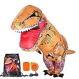 T-Rex Aufblasbare Dinosaurier Kostüm mit Kordelzug Fasching Halloween Karneval Geburtstagsparty Rollenspiel Party-Outfit für Erwachsene und Kinder (für Kinder)