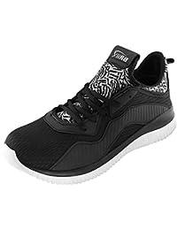 BRiiX Men Black Mesh Sports Running/Walking/Training And Gym Shoes
