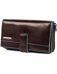 Portafoglio Piquadro Blue Square mogano con portamonete e carte credito PD1354B2/MO