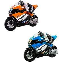 deAO Moto de Carreras GP *Grand Prix* Teledirigida a Pequeña Escala Incluye Batería Recargable y Cargador USB - Color variable