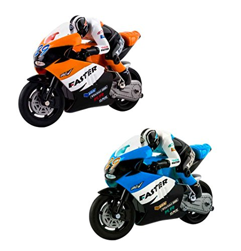 (RCMB) deAO RADIOCOMMANDE MOTO DE COURSE *GP* COULEUR ORANGE (la couleur varie de photos) 0712155523456