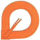Di Ficchiano Lacets ciré ronds premium Ø 2–3 mm, longueur 45–120 cm, indéchirable 100 cm Orange