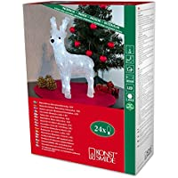Battery LED Acrylic Reindeer - 24 LEDs - 32cm high - 3D Christmas Decoration - 6158-203