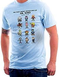 Cloud City 7 Timey Wimey Adventures of Dr Who Mr Men Doctors Men's T-Shirt