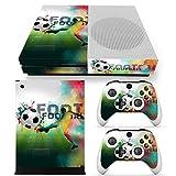 46 North Design Xbox One S Folie Skin Sticker Konsole Football aus Vinyl-Folie Aufkleber Und 2 x Controller folie & Kinect Skin