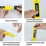 ZILONG Medidor de pH LCD Digital , 0,0 – 14,0 pH, de Alta Precisión, Portátil, para el Acuario, Pesca, Piscina, Laboratorio de la Escuela, Alimentación y Bebidas, etc