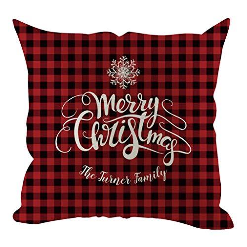 Junjie Weihnachten Kissenbezug Kissenbezüge Dekorative Sofakissenbezug Home Decoration Kinder Weihnachten neu Weihnachten 2019 (Halloween-dekoration 2019 Michaels)