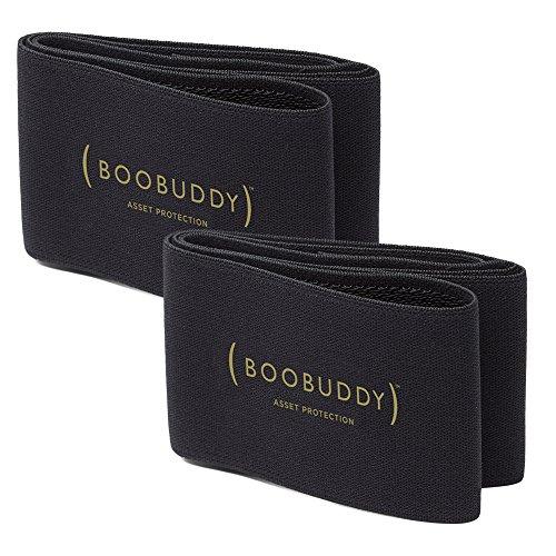 Booband Boobuddy Brustband/Brustkompressionsband, Gold Auflage 2erPack, S