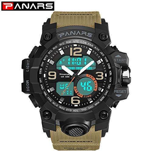Yao Men's Quartz Digital Watch LED Waterproof Watches Outdoor Sport Watch for Men