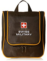 Swiss Military Polyester Brown and Yellow Toiletry Kit (TB-4)