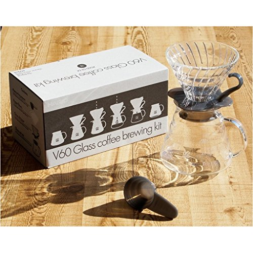 V60 Glass Coffee Brewing Kit / V60 Kaffee-Handaufguss-Set aus Glas (Grau)