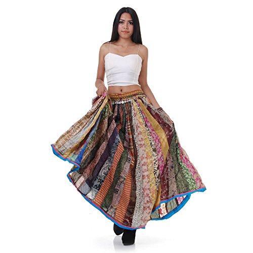 Langer Hippie Batik Patchwork Gypsy Zigeuner (Kostüm Kleidung Zigeuner)