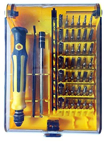 Preisvergleich Produktbild Schraubendreher Set, 45 in 1 mit 42 Bits Magnetische Präzisions Reparatur Werkzeug Kit für Elektronische Kleingeräte kleine Haushaltsgeräte, Handy, Tablet, PC, Laptop, Macbook, Uhr, Rasierer usw.