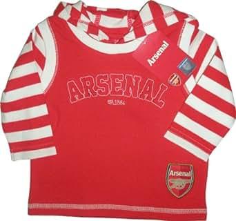 Arsenal Football Club Unisex Baby Mock Hoody Long Sleeve Top 3 - 6 Months