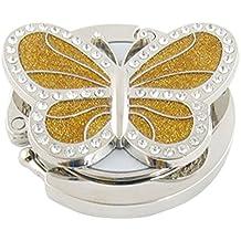 Verziert mit Strass, goldfarben, Handtaschen-Halter, faltbar, Schmetterling