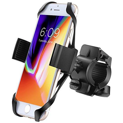 Fahrrad Handyhalterung, Ipow Universal Handy Halterung mit robustem Metall Sockel Outdoor Fahrradhalterung, 360°Drehbare Handyhalterung, geeignet für iphone X/ 8/ 7 Plus/ 6s Plus/ 6/ 5s, Samsung Galaxy Samsung Galaxy S6 / S5 / S4, Samsung Galaxy Note 4 /Note 3/Note 2, HTC One X/M8/X+