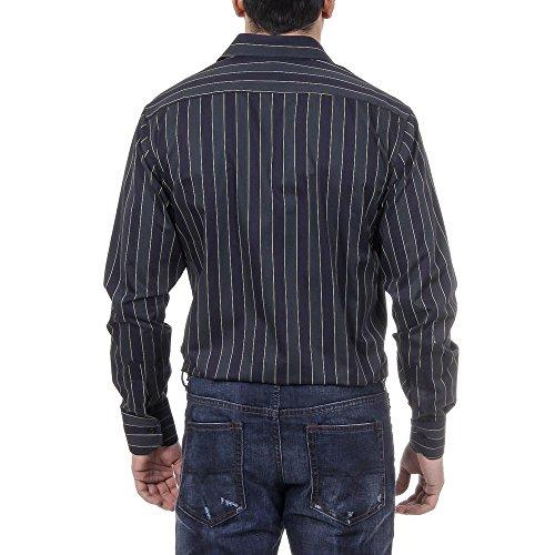 Versace 19.69 Abbigliamento Sportivo Srl Milano Italia Mens Classic Neck Shirt 377 VAR. 520 Multicolore