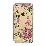 Coque iPhone 6/6s Motif en Silicone TPU Souple Transparente Housse étui Anti Choc...