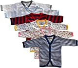 #6: NammaBaby Cotton Front Open Full Sleeves vest- Tshirt -MULTI CUTE Set Of 6 (9-12 months)